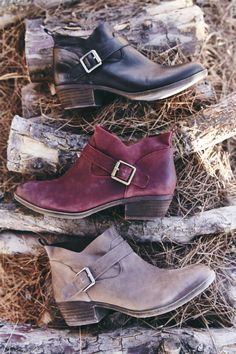 I would like different styles for each color. Our new boots & booties have places to go and the outdoors to see! Bootie Boots, Shoe Boots, Ankle Boots, Red Booties, Fall Booties, Crazy Shoes, Me Too Shoes, Mode Shoes, Do It Yourself Fashion