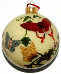 Hand Painted Glass Ornament, Yellow with Butterflies CO-148 World Treasure http://www.amazon.com/dp/B004YNKHYI/ref=cm_sw_r_pi_dp_7Y0iwb1SW7N4A