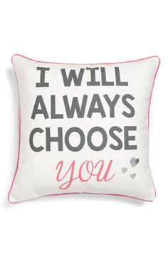 This sentimental accent pillow will add a loving touch to the home decor.