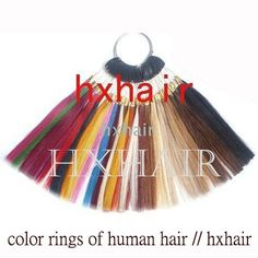 Freeshipping - 36 Colors Color Rings  36 Colors Color Chart  100% Human Hair  Hair Extension tools