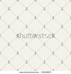 Seamless pattern. Abstract texture with anchors. Vector stylish monochrome print by Curly Pat, via Shutterstock