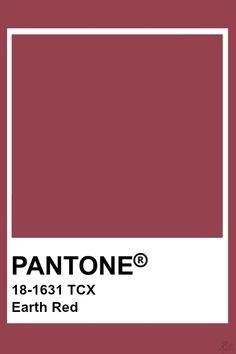 Pantone Earth Red Pantone Tcx, Pantone Swatches, Color Swatches, Earth Colour Palette, Colour Pallette, Pantone Colour Palettes, Pantone Color, Pantone Shade Card, Color Psychology