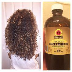 Jamaican Black Castor Oil and Coconut Oil mix <3
