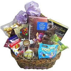 Nut free gift baskets using our Classic Black Gift Basket Box by ...