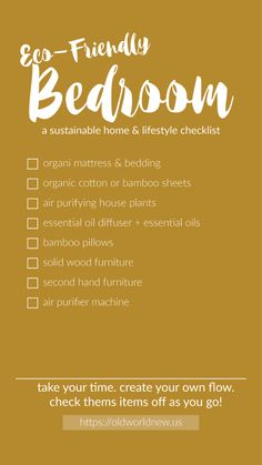 Create an eco-friendly home by following this bedroom checklist! #bowls #ecofriendly #ecofriendlybowls #ecofriendlyproducts #ecofriendlygifts #ecofriendlyweeding #ecofriendlyliving #ecofriendlyideas #ecofriendlytips