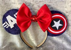 These are completely handmade Captain America themed Mouse Ears. If you have any…