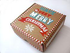 Scatola di Natale set di decorazioni natalizie per albero di natale regalo di natale scatola decorata ornamenti albero di natale porcellana di FarfallaDorata su Etsy
