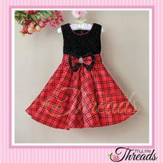 Special Occasion Dress Red & Black