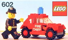 LEGO 602-1: Fire Chief's Car | Brickset: LEGO set guide and database