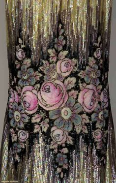 Fabulous details. A flapper's dress from the 1920's, no longer for sale. From Augusta Auctions. They always have incredible treasures!