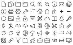 800 iconos que se caracterizan por su estilo iOS 7 - gracias a @softapps