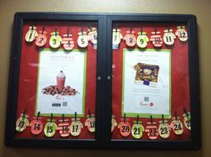 Add string across two bulletin boards to connect them with one theme. Chik Fil A Cow, Eat Mor Chikin, Cow Wallpaper, Community Boards, Xmas, Christmas, Bulletin Boards, 9 And 10, Peppermint