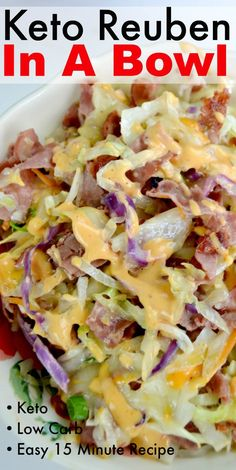 This Keto Reuben In A Bowl is a delicious version of a classic Reuben Sandwich. Serve as light lunch or dinner! This Keto Reuben In A Bowl is a delicious version of a classic Reuben Sandwich. Serve as light lunch or dinner! Keto Foods, Ketogenic Recipes, Diet Recipes, Cooking Recipes, Healthy Recipes, Ketogenic Diet, Diet Desserts, Keto Diet Plan, Easy Recipes