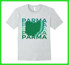 Mens Parma Ohio T Shirt Retro Green Repeat Small Heather Grey - Retro shirts (*Amazon Partner-Link)