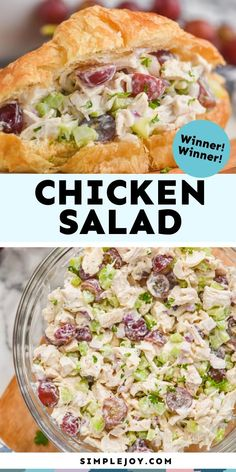 This Chicken Salad is an easy recipe that comes together to make an amazing chicken salad sandwich. Make it to bring to a picnic or just have it for an easy weeknight meal.