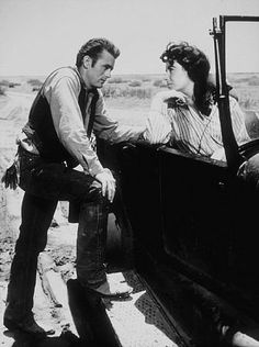 Elizabeth Taylor and James Dean in