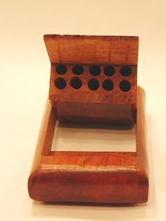Vintage 1960's This wooden cigarette holder is very rare, handcrafted from an artisan in India