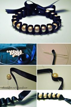 Classy bracelet made easy. Original Pin, unknown