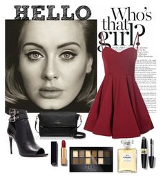 """Hello it's me "" by iconsoffashion ❤ liked on Polyvore featuring Glamorous, Burberry, Kate Spade, Chanel, Maybelline and Max Factor"