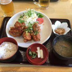 久しぶりに油淋鶏の定食を頂きました ビールにとても良く合いました