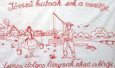 Hímzett falvédő, az elfelejtett konyhai emlék | NLCafé Hungary, Folk Art, Embroidery, History, Vintage, Wood, Needlepoint, Historia, Popular Art