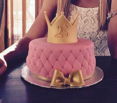 Pretty Photo of Girly Birthday Cakes . Girly Birthday Cakes Pin Bob On Birthdays In 2019 P. Girly Birthday Cakes, Girly Cakes, Princess Birthday, Cute Cakes, Sweet Cakes, Birthday Cake 21 Girl, Birthday Cake Crown, Bithday Cake, 19th Birthday