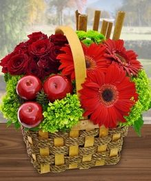 Our Apple Cinnamon Basket will delight your friends upon delivery. by Mission Viejo Florist #OrangeCounty #Flowers