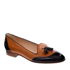 Brown and black leather loafers are cool