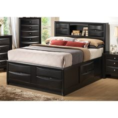 Coaster Company Briana Black Storage Bed (California King)