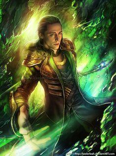 "Tom Hiddleston ""Loki"" Fan art By http://keelerleah.deviantart.com/art/Loki-Laufeyson-538843021 This is a really nice fanart"