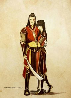 Airbender: All Grown Up - Fire Lord Zuko and Mai (Husband and Wife)