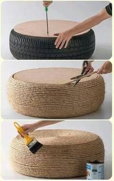 <3 recycle! (TerraCycle)  With some patience and creativity you can turn an old tire into a beautiful outdoor seating