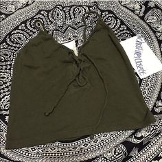 Brandy Melville olive John galt ily tank New no tags. No trades. Brandy Melville Other