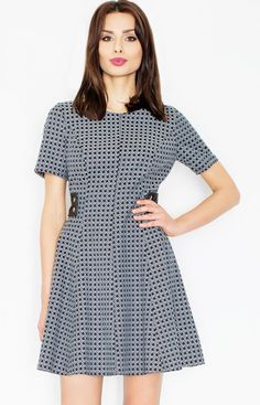 7f773047db Figl M444 sukienka szara - Modne sukienki damskie - Sukienka na wesele -  Odzież damska Figl - Sklep