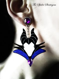 Gothic victorian spooky earrings 'Maleficent' by SpiderStratagem, €18.00