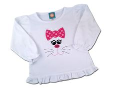 Girl's Easter Shirt with Cutie Bunny Face by SunbeamRoad on Etsy