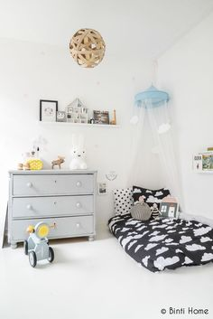 clouds...miffy lamp...love everything about this room...