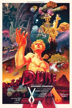 Original poster for Alexandro Jodorowsky's canceled 'Dune' film Dune Film, Jodorowsky's Dune, Dune Art, Fiction Movies, Science Fiction, Art Movies, Dune Frank Herbert, Artist Film, Kunst Poster