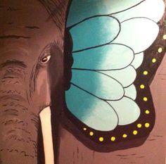 butterfant :) 40x40 cm akryl på lærred
