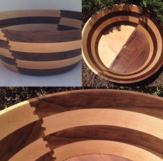 Walnut and maple bowl