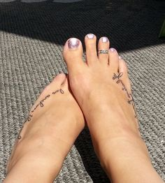 Tattoo placement foot.
