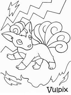 34 desenhos para imprimir e colorir do Pokemon.