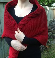 Little Red Riding Hood Easy Knit Shawl