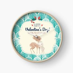 #clock #bunny #deer #rabbit #valentine #hugsandkisses #nursery #cute #aesthetic #greenaesthetic #teal #friendship #bff #friendsforever #iloveyou #shoponline #homedecor #unisex #walldecoration #kidsroomdecor #playroom #nursery