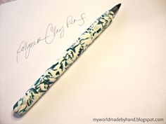 How to Make Polymer Clay Marble Pens - My World - Made By Hand