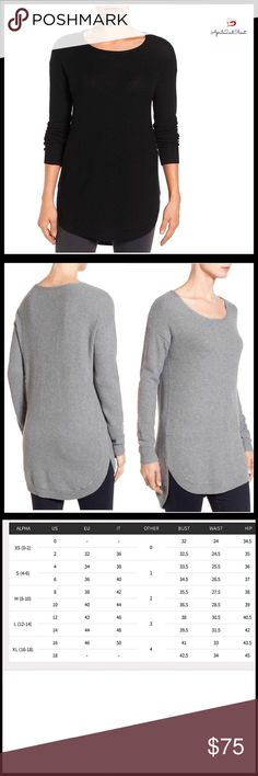 """⭐️⭐️ PULLOVER TUNIC NEW WITH TAGS Size S shown on mannequin  RETAIL PRICE-$88 *Grey photos for detail only, & sold/listed separately. SIZING- S = 4-6, L = 12-14, XL = 16-18 Pullover Long Sleeve Knit Tunic  * Incredibly soft, stretch-to-fit knit fabric   * Scoop neck    * Long sleeves & curved hem    * Approx 30""""-32"""" long   * A subtly relaxed fit   * Lightweight for layering, yet cozy   * An oversized slouchy fit    FABRIC- 53% cotton, 40% rayon, 7% nylon COLOR- Black  Item# SEARCH# loose…"""