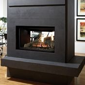 Marquis Fireplaces is pleased to introduce the new multi-sided Gemini, the perfect solution as a dramatic room divider or corner focal point in a great room. This Zero Clearance Direct Vent See Through Gas Fireplace is available for propane. House, Home Fireplace, Living Room With Fireplace, Fireplace Accessories, Fireplace Design, Modern Living Room, Indoor Fireplace, Modern Fireplace, Great Rooms