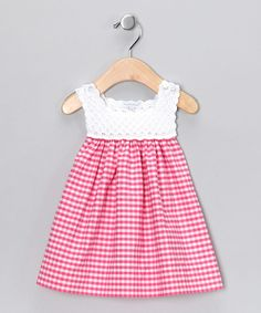 """Fuchsia Analee Crocheted Dress 