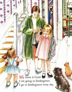 .Illustrator Eloise Wilkin---is the best! There is a book out with a compilation of stories she has illustrated.  Amazing.