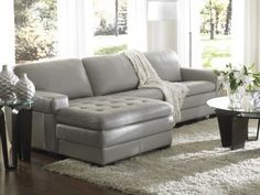 Galaxy leather sectional at Haverty's Furniture